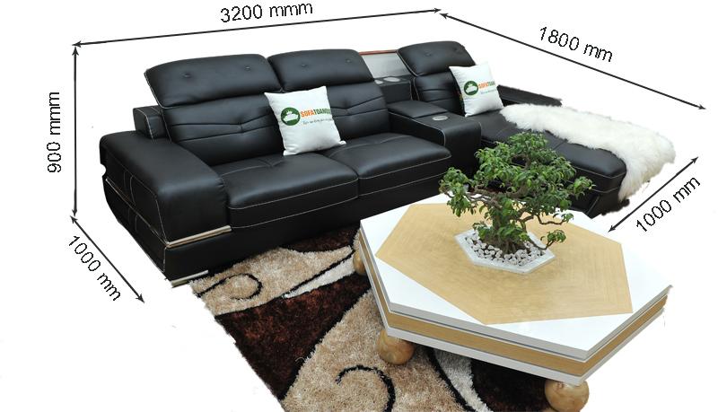 kích thước ghê sofa da mã sdn 03t