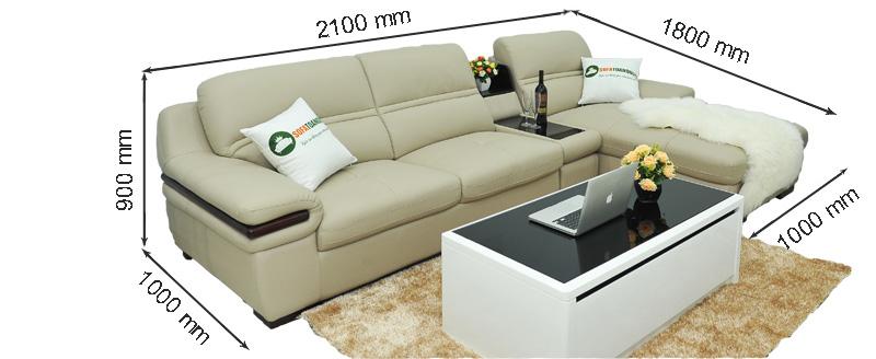 Sofa da nhập khẩu mã TQ-04T-1