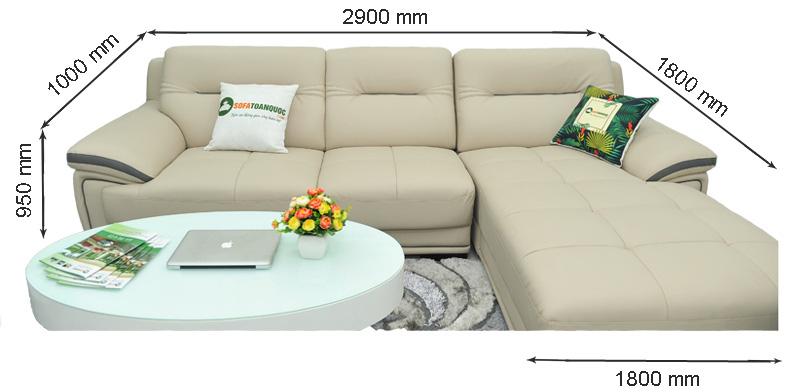 Sofa da nhập khẩu mã QV-1501T 1