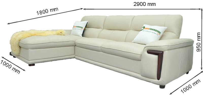 Sofa da nhập khẩu mã QV-F1623P-1
