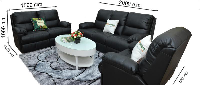 kích thước ghế sofa da mã sdn05