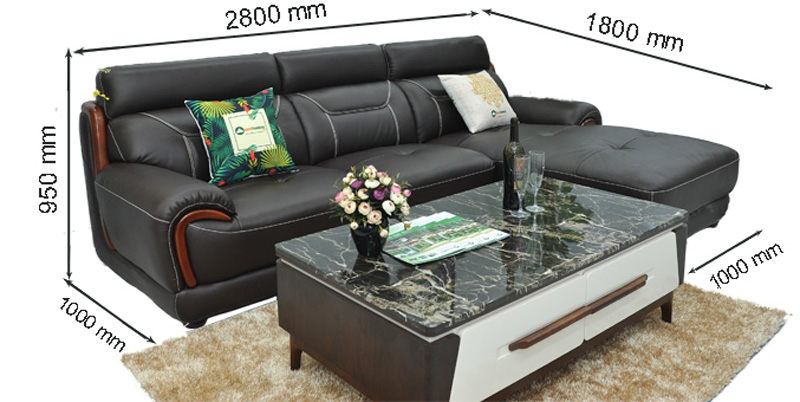 Sofa da nhập khẩu mã QV-F1639T-1