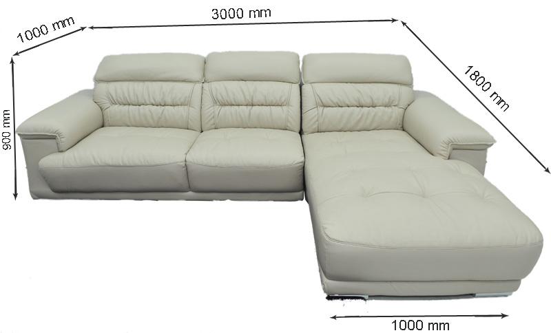 Sofa da nhập khẩu mã QV-F1621T-1