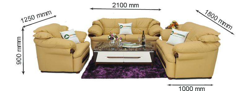 kích thước sofa da mã sdn 01