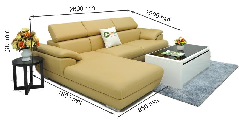 kích thước sofa cho phòng khách