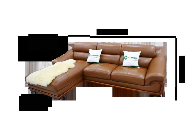 Sofa da nhập khẩu mã QV-FR501P-1