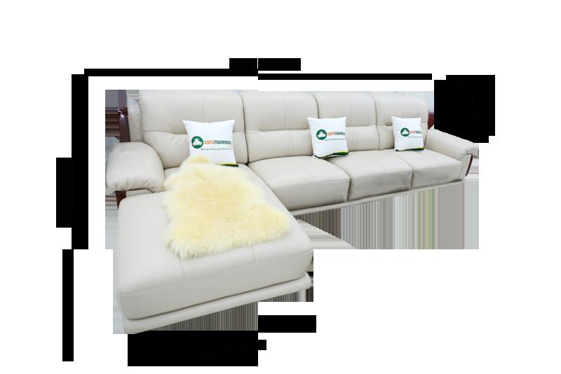 Sofa da nhập khẩu mã QV-3212P 1