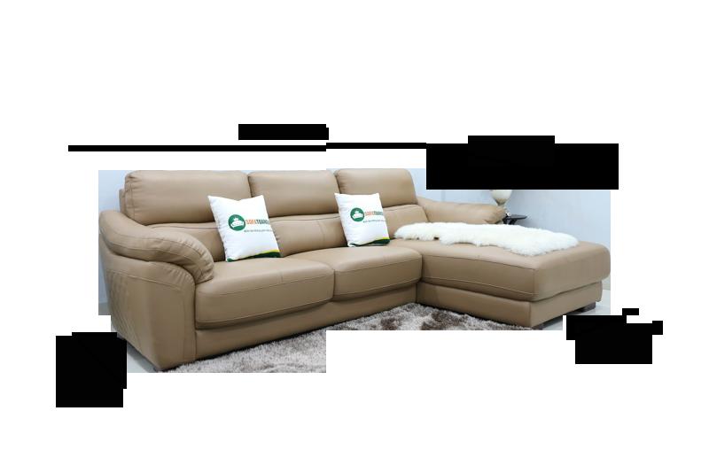 Sofa da nhập khẩu mã QV-911T 1