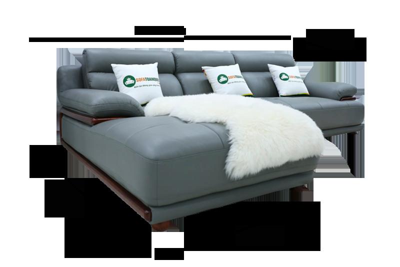 Ghế sofa da nhập khẩu mã QV-F1230P-1