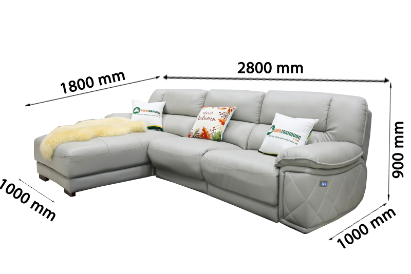 Sofa da nhập khẩu mã VH-07P-1