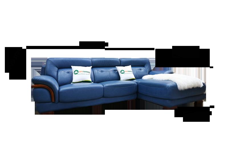 Sofa da nhập khẩu mã VH-11T 1