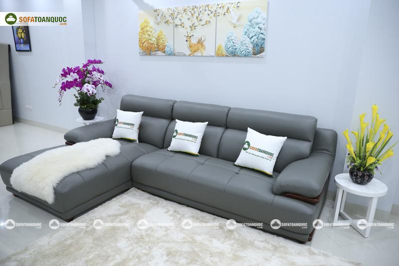 ghế sofa da cao cấp microfiber  nhập khẩu mã sdn16p