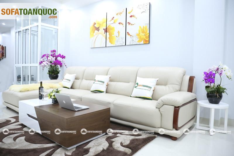 Sofa da nhập khẩu mã QV-3212P 3