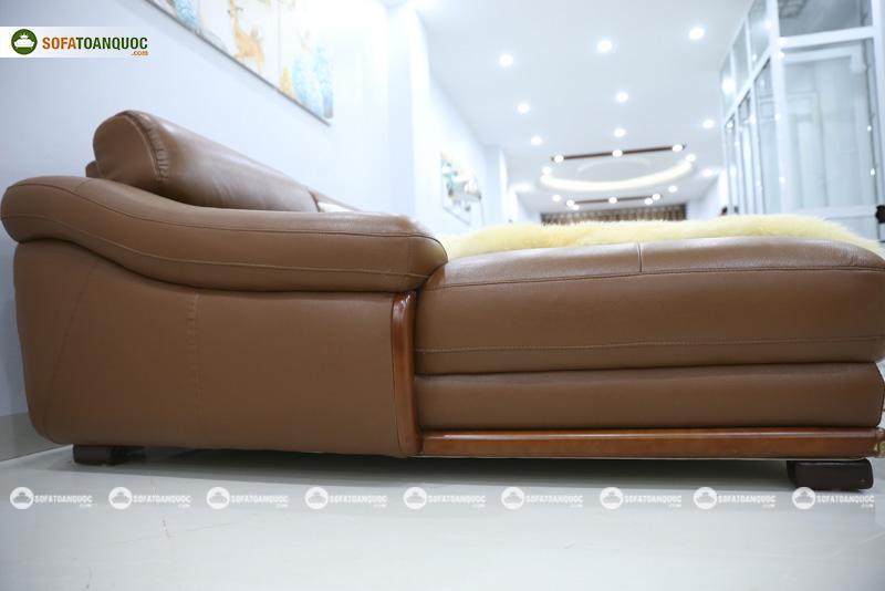 Sofa da nhập khẩu mã QV-FR501P-4