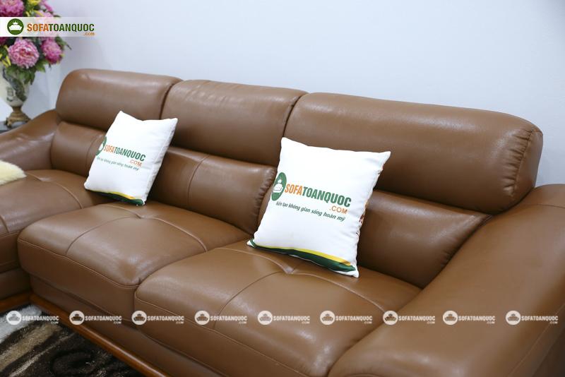 Sofa da nhập khẩu mã QV-FR501P-5