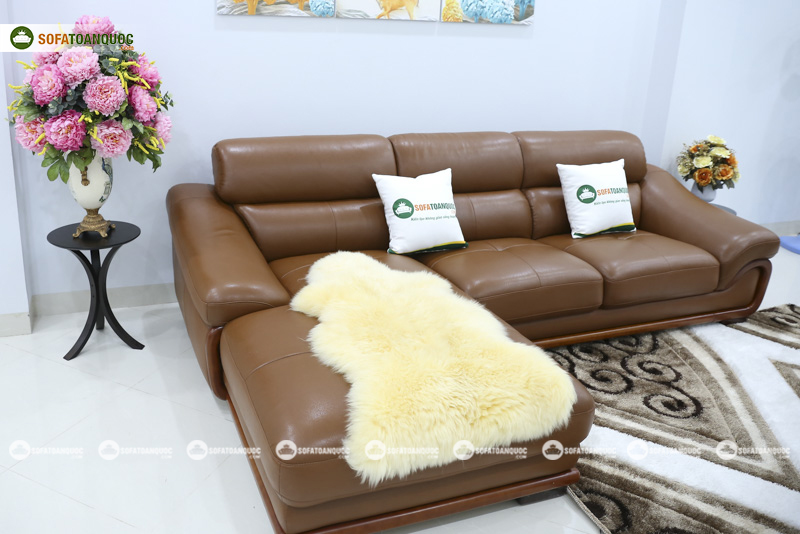 Sofa da nhập khẩu mã QV-FR501P-2