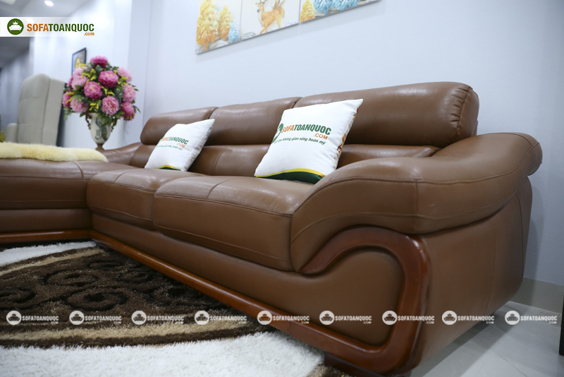 Sofa da nhập khẩu mã QV-FR501P-3