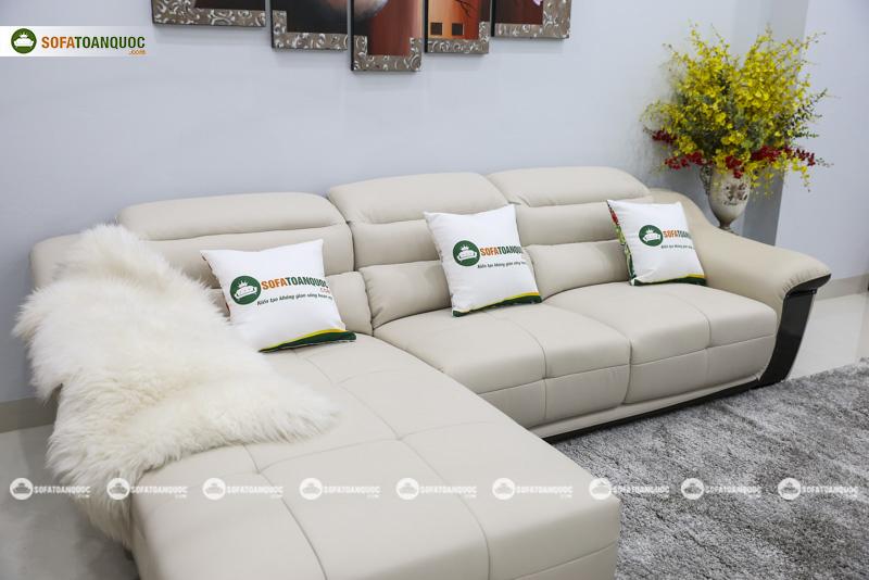 Sofa da nhập khẩu mã QV-913P 4