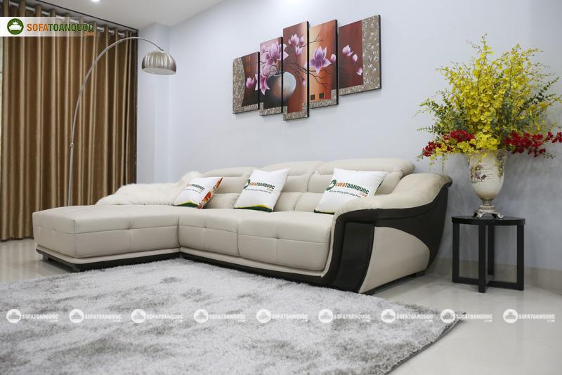 Sofa da nhập khẩu mã QV-913P 2