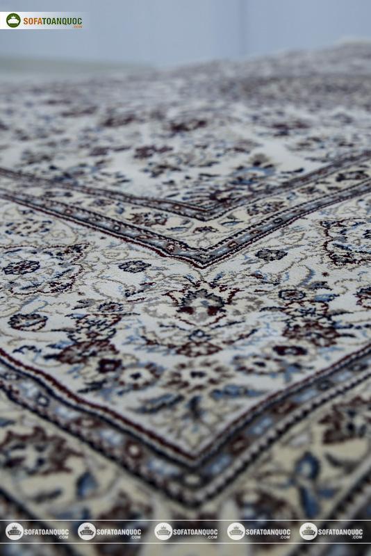 Thảm trang trí sofa phòng khách mã MASHAD 130 CREAM