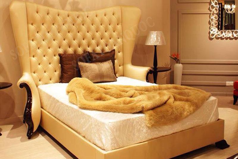 giường ngủ bọc da mã 15-4