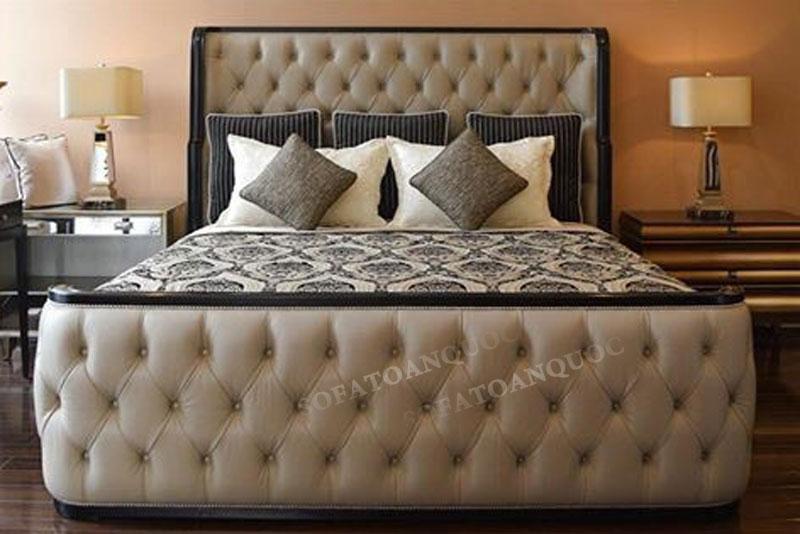 giường ngủ bọc vải mã 46-2