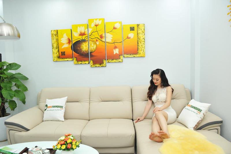 Sofa da nhập khẩu mã QV-1501T 3
