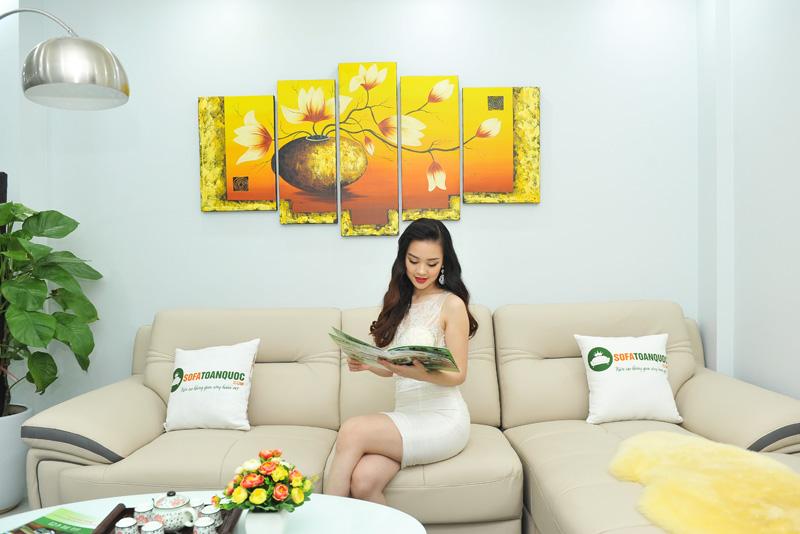 Sofa da nhập khẩu mã QV-1501T 4