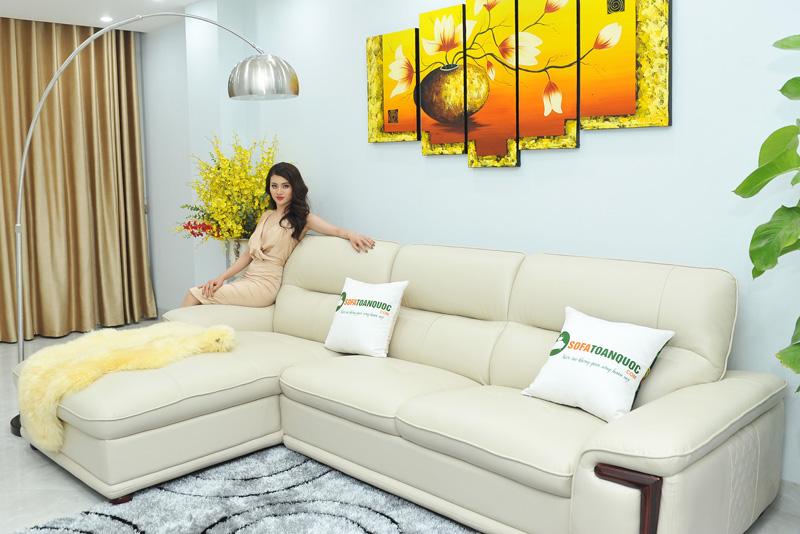 Sofa da nhập khẩu mã QV-F1623P-2