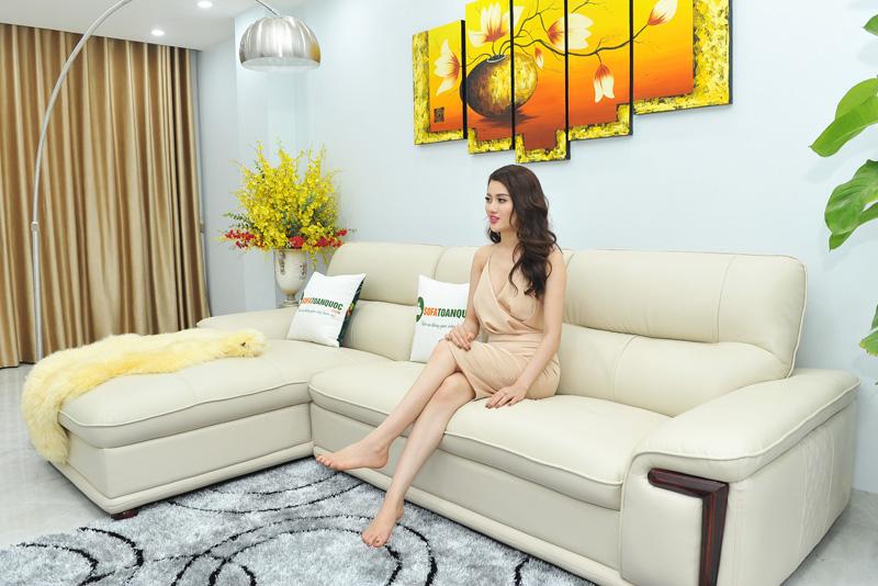 Sofa da nhập khẩu mã QV-F1623P-3
