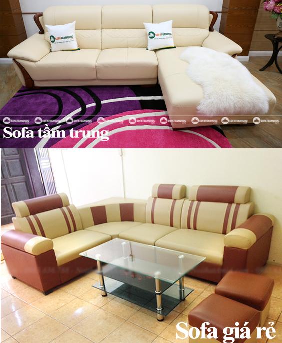 so sánh sofa giá rẻ