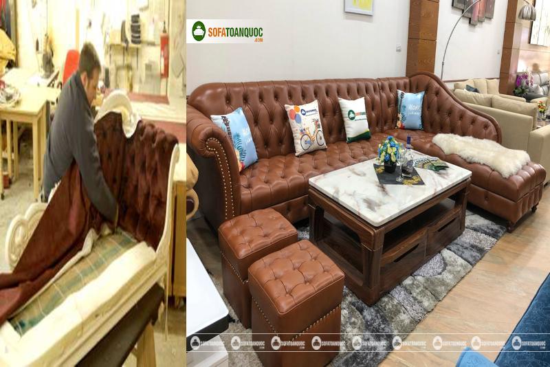 Xưởng nhận bọc lại ghế sofa ở Hà Nội 2