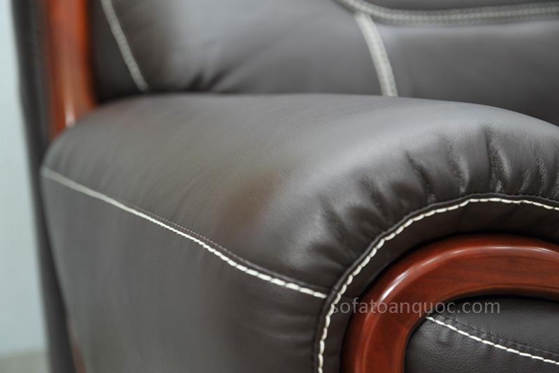 Sofa da nhập khẩu mã QV-F1639T-10
