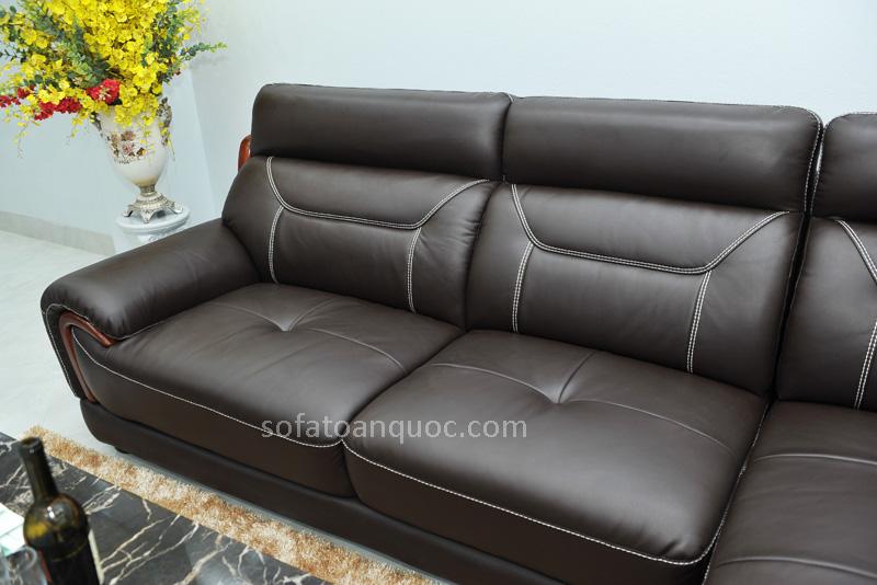 Sofa da nhập khẩu mã QV-F1639T-7