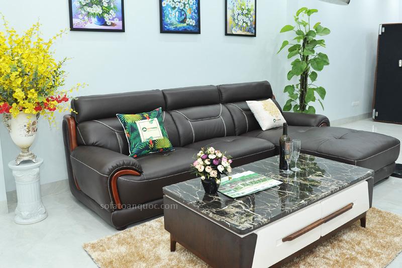 Sofa da nhập khẩu mã QV-F1639T-6