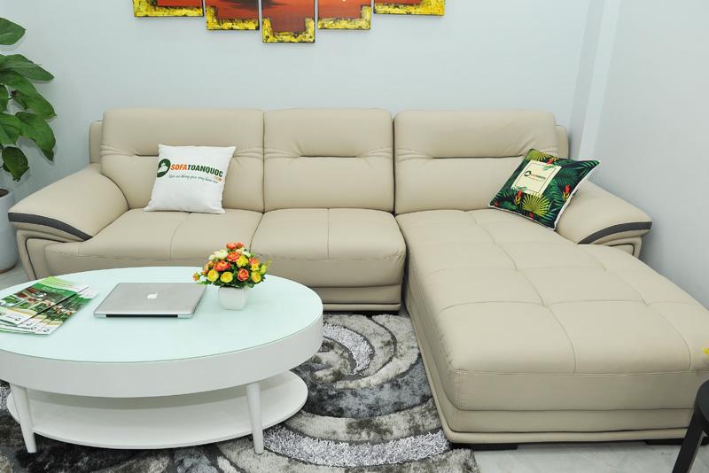 Sofa da nhập khẩu mã QV-1501T 8