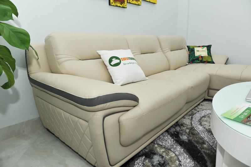 Sofa da nhập khẩu mã QV-1501T 9