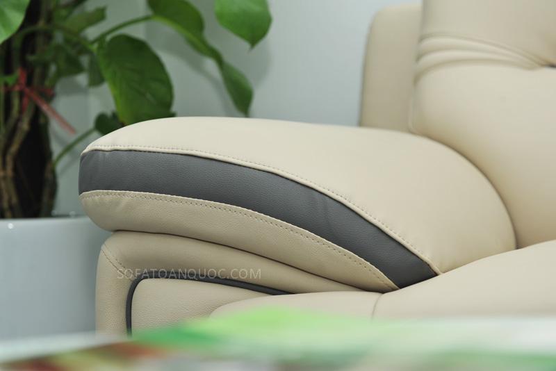 Sofa da nhập khẩu mã QV-1501T 11
