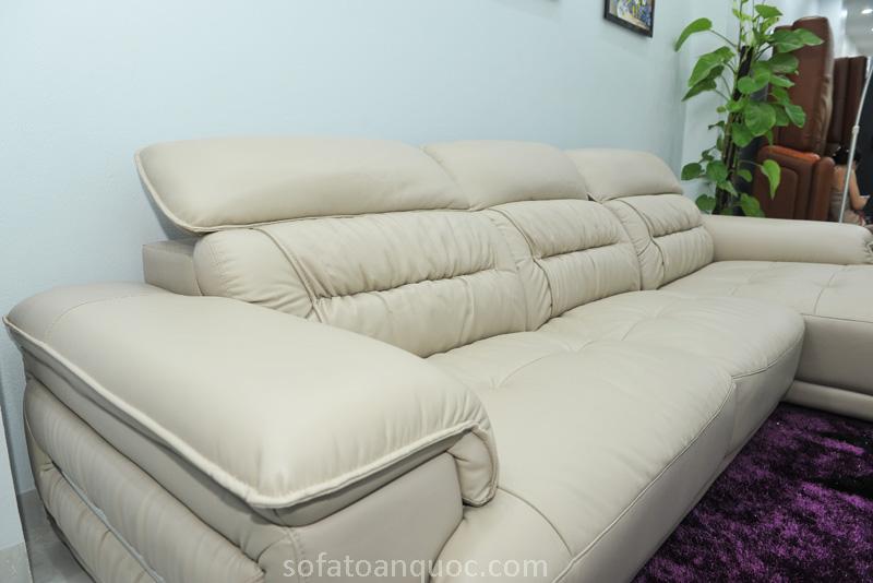 Sofa da nhập khẩu mã QV-F1621T-8
