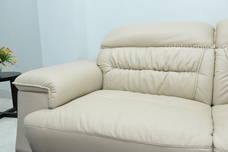 Sofa da nhập khẩu mã QV-F1621T-11