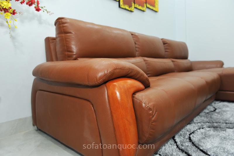Sofa da nhập khẩu mã QV-638T-10