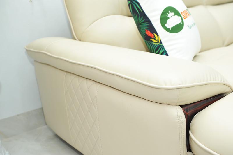 Sofa da nhập khẩu mã QV-F1623P-7