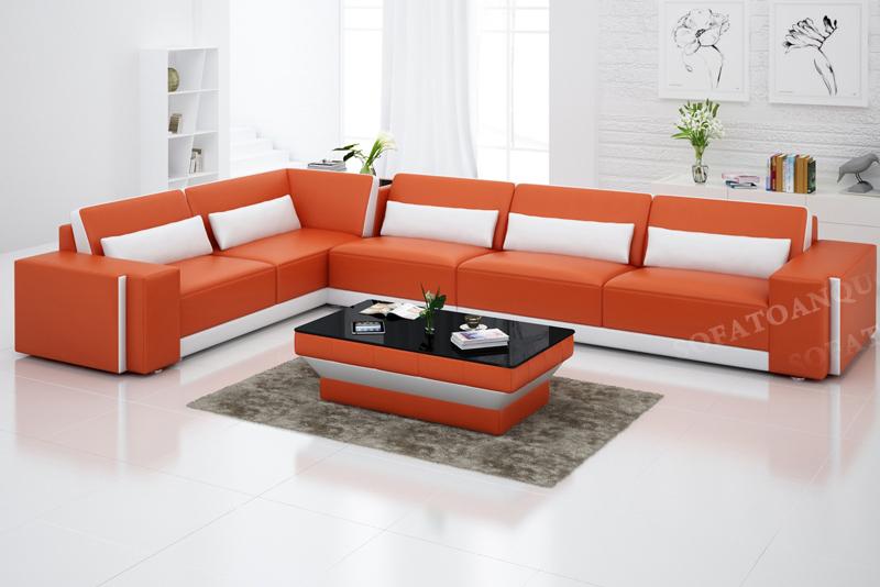 sofa da nhập khẩu đẹp cho phòng khách