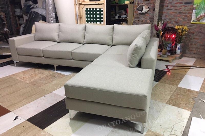 Sofa bọc vải bố cho phòng khách