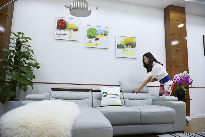 Ghế sofa da cao cấp cho phòng khách