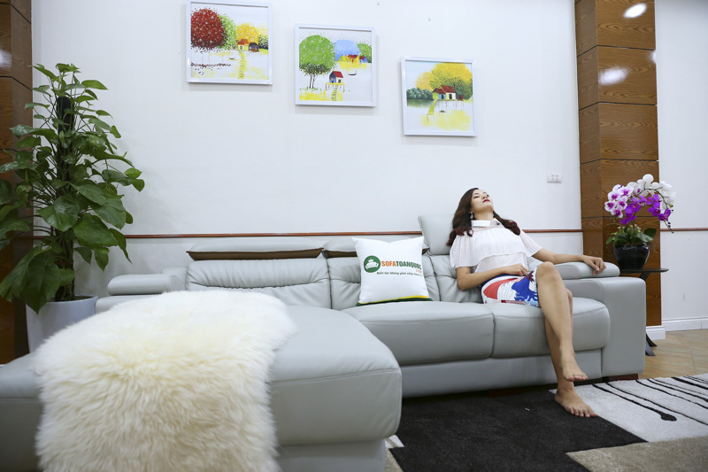 Sofa da cao cấp phòng khách đẹp