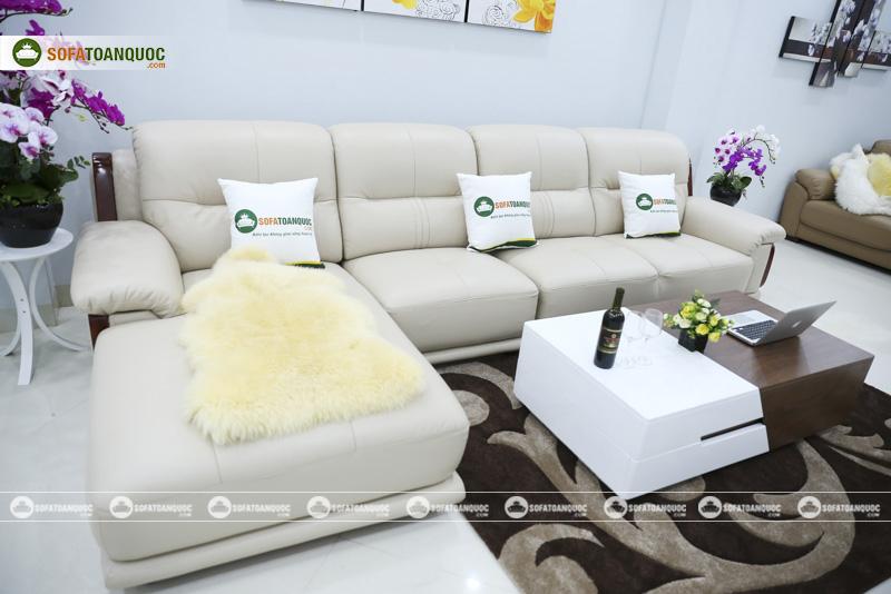 Sofa da nhập khẩu mã QV-3212P 8