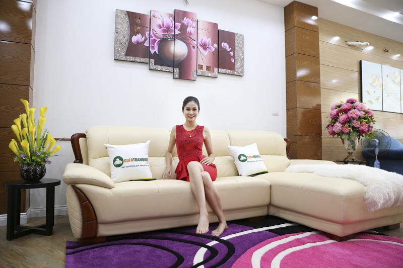 Sofa da phòng khách đẹp