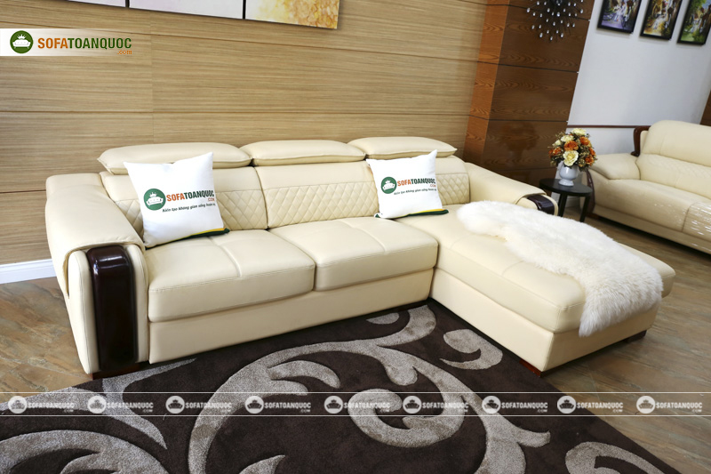 Sofa da phòng khách đẹp chất lượng