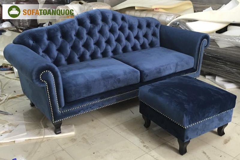Bộ ghế sofa văng vải tân cổ điển